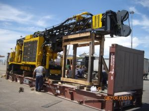 Drill Rig on the Flat Rack